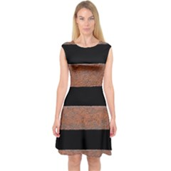 Stainless Rust Texture Background Capsleeve Midi Dress