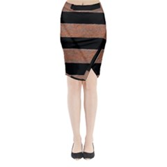 Stainless Rust Texture Background Midi Wrap Pencil Skirt