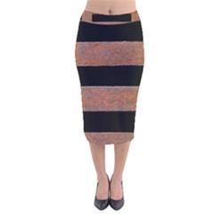 Stainless Rust Texture Background Velvet Midi Pencil Skirt