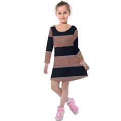 Stainless Rust Texture Background Kids  Long Sleeve Velvet Dress