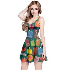 Presents Gifts Background Colorful Reversible Sleeveless Dress
