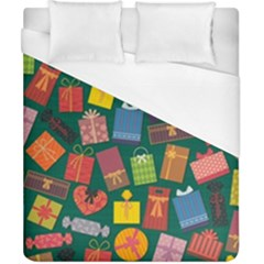 Presents Gifts Background Colorful Duvet Cover (california King Size)