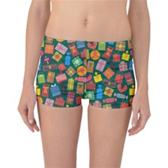 Presents Gifts Background Colorful Reversible Bikini Bottoms