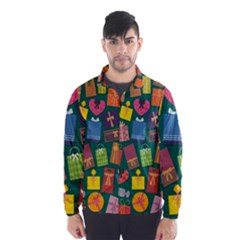 Presents Gifts Background Colorful Wind Breaker (Men)
