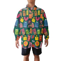 Presents Gifts Background Colorful Wind Breaker (kids)