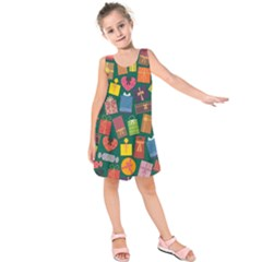 Presents Gifts Background Colorful Kids  Sleeveless Dress