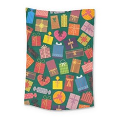 Presents Gifts Background Colorful Small Tapestry