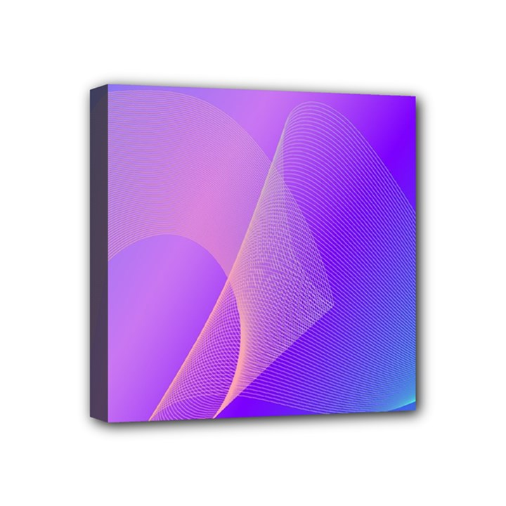 Vector Blend Screen Saver Colorful Mini Canvas 4  x 4