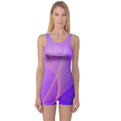 Vector Blend Screen Saver Colorful One Piece Boyleg Swimsuit