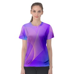 Vector Blend Screen Saver Colorful Women s Sport Mesh Tee