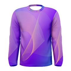 Vector Blend Screen Saver Colorful Men s Long Sleeve Tee