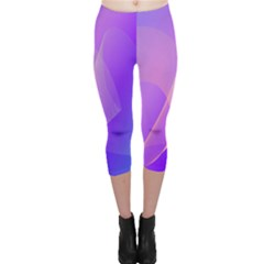 Vector Blend Screen Saver Colorful Capri Leggings