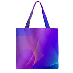 Vector Blend Screen Saver Colorful Zipper Grocery Tote Bag