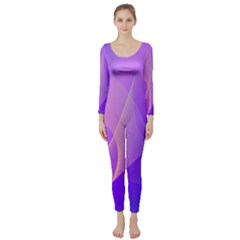 Vector Blend Screen Saver Colorful Long Sleeve Catsuit