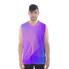 Vector Blend Screen Saver Colorful Men s Basketball Tank Top
