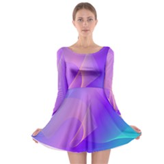 Vector Blend Screen Saver Colorful Long Sleeve Skater Dress