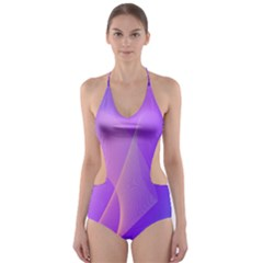 Vector Blend Screen Saver Colorful Cut Out One Piece Swimsuit