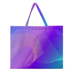 Vector Blend Screen Saver Colorful Zipper Large Tote Bag