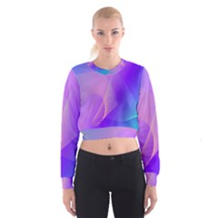 Vector Blend Screen Saver Colorful Women s Cropped Sweatshirt