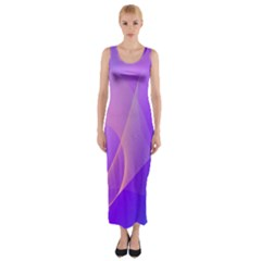 Vector Blend Screen Saver Colorful Fitted Maxi Dress