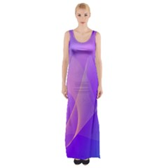 Vector Blend Screen Saver Colorful Maxi Thigh Split Dress