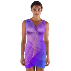Vector Blend Screen Saver Colorful Wrap Front Bodycon Dress