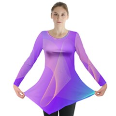 Vector Blend Screen Saver Colorful Long Sleeve Tunic