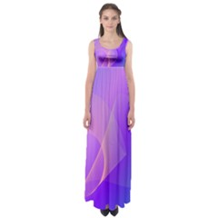 Vector Blend Screen Saver Colorful Empire Waist Maxi Dress