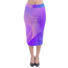 Vector Blend Screen Saver Colorful Midi Pencil Skirt