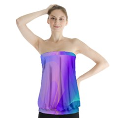 Vector Blend Screen Saver Colorful Strapless Top