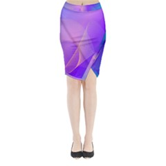 Vector Blend Screen Saver Colorful Midi Wrap Pencil Skirt