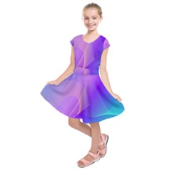 Vector Blend Screen Saver Colorful Kids  Short Sleeve Dress