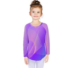 Vector Blend Screen Saver Colorful Kids  Long Sleeve Tee