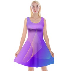 Vector Blend Screen Saver Colorful Reversible Velvet Sleeveless Dress