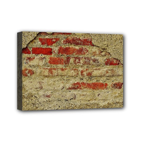 Wall Plaster Background Facade Mini Canvas 7  X 5