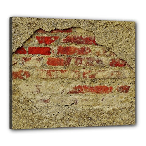 Wall Plaster Background Facade Canvas 24  X 20