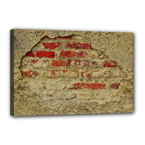 Wall Plaster Background Facade Canvas 18  X 12