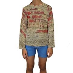 Wall Plaster Background Facade Kids  Long Sleeve Swimwear