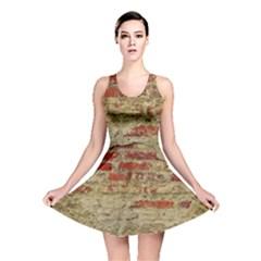 Wall Plaster Background Facade Reversible Skater Dress
