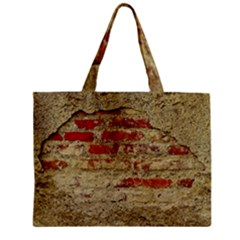 Wall Plaster Background Facade Zipper Mini Tote Bag