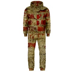 Wall Plaster Background Facade Hooded Jumpsuit (men)
