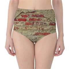 Wall Plaster Background Facade High Waist Bikini Bottoms