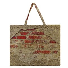 Wall Plaster Background Facade Zipper Large Tote Bag