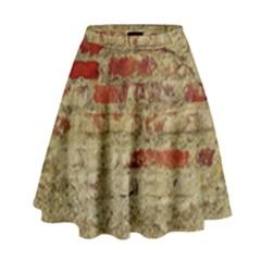 Wall Plaster Background Facade High Waist Skirt