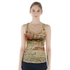 Wall Plaster Background Facade Racer Back Sports Top