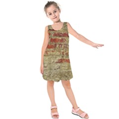 Wall Plaster Background Facade Kids  Sleeveless Dress