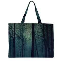 Dark night forest Large Tote Bag