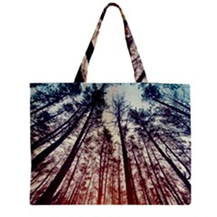 lovely Up view forest  Medium Zipper Tote Bag