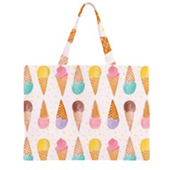 Colorful ice cream  Large Tote Bag