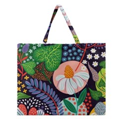 Japanese inspired  Zipper Large Tote Bag
